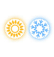 sun and snowflake abstract vector image vector image