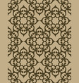 swirly lace texture golden seamless pattern vector image vector image