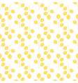 symmetrical seamless floral pattern of yellow vector image