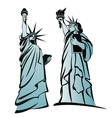 the statue liberty 3 vector image