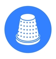 Thimble icon of for web and vector image vector image