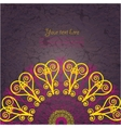 Vintage invitation card on grunge background vector image