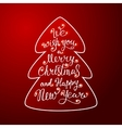 We wish you a Merry Christmas greeting card vector image vector image