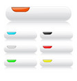 white glossy buttons oval colored web icons with vector image
