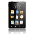 modern black mobile phone vector image