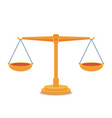 scales balance icon flat design vector image