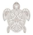 Turtle Zentangle Style vector image