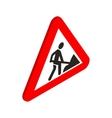 Roadworks sign icon isometric 3d style vector image