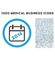 2016 Calendar Icon with 1000 Medical Business vector image vector image