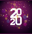 2020 happy new year with white number vector image vector image