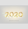 2020 new year golden banner vector image