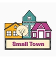 A small town vector image