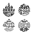 A Very Merry Christmas And Happy New Year vector image