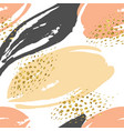 abstract hand drawn seamless repeat pattern vector image vector image