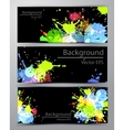 Abstract inkblot colorful banners vector image