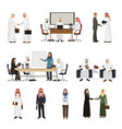 arab businessman arabian business people vector image