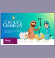 baby jesus born in bethlehem scene in holy family vector image
