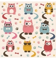 Background with cute cats vector image