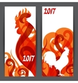 Banners with rooster symbol 2017 chinese