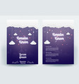 beautiful ramadan kareem flyer brochure poster vector image