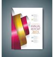 Brochure cover design spiral elements vector image