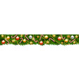 christmas garland isolated vector image