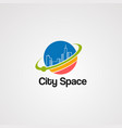 city space logo icon element and template vector image