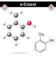 Cresol molecule vector image vector image