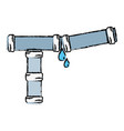 doodle plumbing tube repair equipment construction vector image vector image