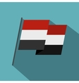 Egyptian wavy flag icon flat style vector image vector image