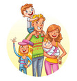 family portrait funny cartoon character vector image vector image