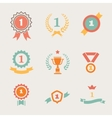 first place badges and ribbons vector image vector image