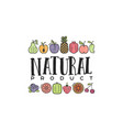 fruits and vegetables vegetarian banner natural vector image vector image
