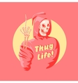 Funny pink death vector image