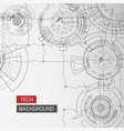 futuristic circles circuitry background vector image vector image