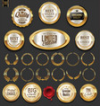 golden badges and labels collection 2 vector image vector image