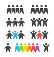 group and team icon set vector image vector image
