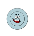 Happy blue plate with a laughing face vector image