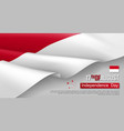 indonesian independence day horizontal web banner