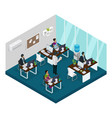 isometric indian support service center template vector image vector image
