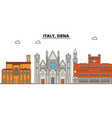 italy siena city skyline architecture vector image vector image