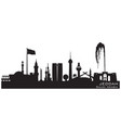 jeddah saudi arabia city skyline silhouette vector image vector image