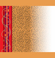 leopard trendy pattern vector image vector image