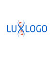 lux dna company logo template vector image