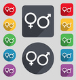 male and female icon sign A set of 12 colored vector image vector image