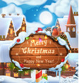 Merry Christmas and Happy New Year background 3d vector image vector image