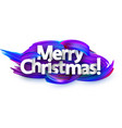merry christmas festive background with blue brush vector image vector image