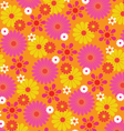 mod flowers vector image vector image