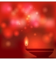 oil lamp blurred background vector image