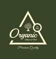 organic natural and healthy farm fresh food retro vector image vector image